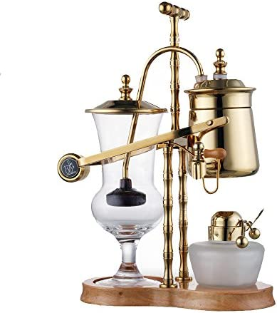 ufengke Royal Belgium Luxury Family 18 8 Stainless Steel Balance Syphon Siphon Coffee Maker Set,Gold Color
