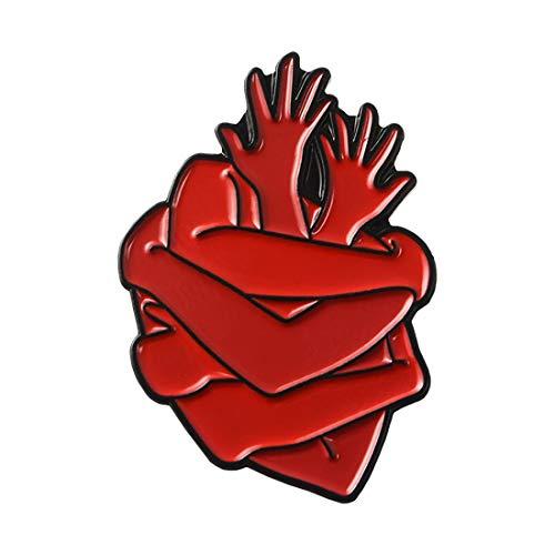 ROSTIVO Enamel Pins for Backpacks Heart Pin Funny Enamel Lapel Brooch Pin Badge for Men Women Boys Girls Cardiac Organ…