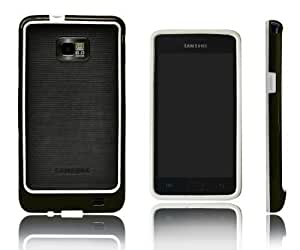 Xcessor Rubber and Plastic Classic Bumper Case for Samsung Galaxy S2 i9100 - White/Black by Xcessor