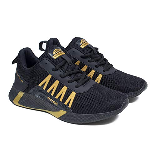 ASIAN Men's Bouncer-01 Sports Latest Stylish Casual Sneakers,Lace up Lightweight Shoes for Running, Walking, Gym