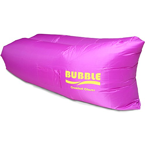 Qbubble Bubble Inflatable Lounger Air Filled Balloon Furniture with Carry Bag. Inflates in Seconds. Hangout as Lounge Chair, Lamzac Bean Bag, Air Hammock, Sofa, Couch, Kaisr Original Air Bag (Purple)