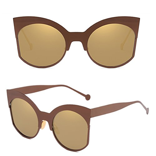 Métal Premium Gold Lunettes Mode Glasses Sunglasses Forme Yeux De Qualité Soleil Femmes Cadre Chat Rue Zhhlaixing qw0HdTxT