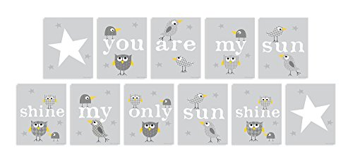 The Kids Room by Stupell You are My Sunshine 11-Pc Rectangle Wall Plaque Set by The Kids Room by Stupell