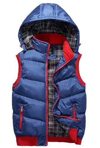Vest Zip Hoodie 3 TTYLLMAO Vest Outerwear Puffer Up Warm Quilted Jacket Mens vxpwPYF