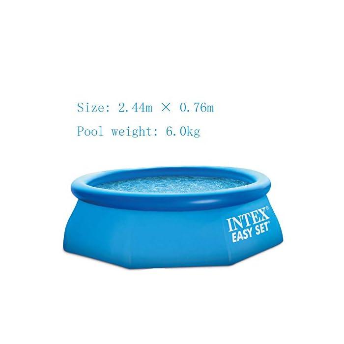 41hmWjvfYNL ◆ Peso: 6.0kg Tamaño: 2.44mx0.76m Capacidad: 2419L ◆ Peso: 8.5kg Tamaño: 3.05m * 0.76m Capacidad: 3853L ◆ La cinta de malla de PVC es fuerte y resistente, dos capas de cinta de PVC en el exterior y la capa intermedia es de malla.