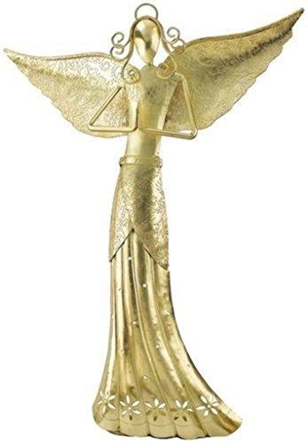 Metal Art Angel Candle Holder - 6