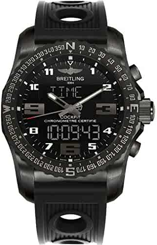 Men's Breitling Cockpit B50 Black Titanium Sports Watch with Rubber Strap VB501022/BD41-201S
