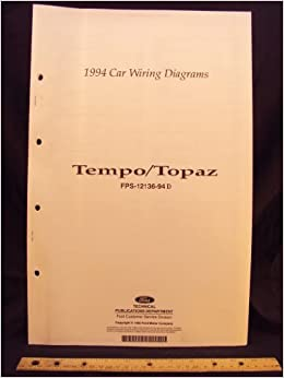 1994 FORD Tempo & MERCURY Topaz Electrical Wiring Diagrams ... Wiring Diagram Topaz on copper wiring diagram, pioneer wiring diagram, mariner wiring diagram, cobalt wiring diagram, eclipse wiring diagram, valkyrie wiring diagram, malibu wiring diagram,