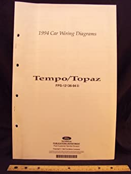 1994 ford tempo mercury topaz electrical wiring diagrams rh amazon com  1994 ford tempo stereo wiring diagram
