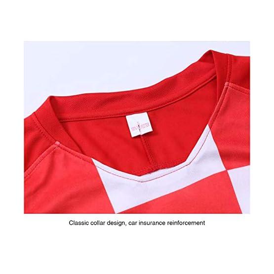 Maillots à manches courtes pour la Coupe du Monde de 2018 de la Croatie, domicile et extérieur N ° 10 Vêtements de football modriques pour hommes: tissu respirant et à séchage rapide absorbant l