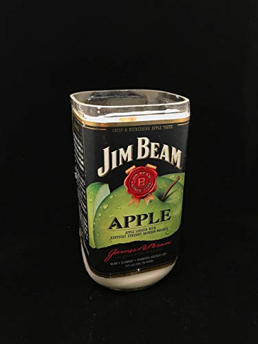 Whiskey and Apple Scented, 16 Oz Soy Candle, JIM BEAM Reclaimed Bottle, Handmade
