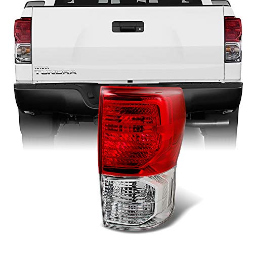 For Toyota Tundra Pickup Truck Red Clear Tail Light Rear Brake Lamp Replacement Passenger Right Side
