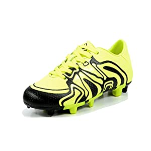 DREAM PAIRS Toddler 160472-K L.Green Black White Soccer Football Cleats Shoes - 10 M US Toddler