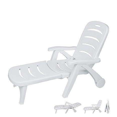 Silla Plegable plástica Blanca de la Piscina de la Silla de ...