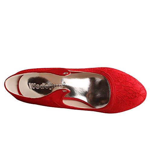 Sandali Wedopus Mg306 Red Donna Con Zeppa a75qwwx40