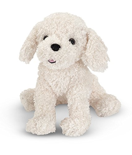 Toy Bichon Frise - Melissa & Doug 7487 Stuffed Bichon Frise Puppy Doll