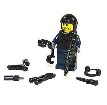 Custom Police Swat Accessoire Et Figurine Lego Pièces Mini En rshdtCQ