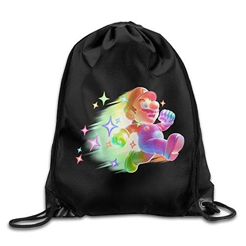BERTHA Unisex Super Mario Bro Drawstring Beam Port Relaxing Portable Backpack (Tomb Raider Underworld Costumes Pack Pc)