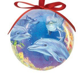 Cape Shore High Gloss Dolphin Cove Christmas Ornament