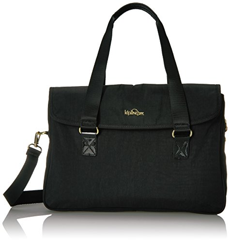 SUPER WORK SATCHEL Shoulder Bag, BLACK PATENT COMBO, One Size by Kipling