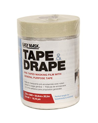 Easy Mask Tape & Drape Pre-Tape Masking Film 22 inches x 100 feet with 24 hour General Purpose ()