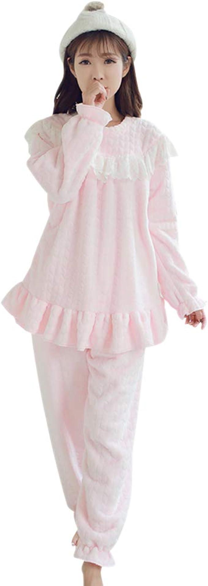DAZISEN Mujeres Pijama de Lactancia Invierno Ropa - Suave Un ...