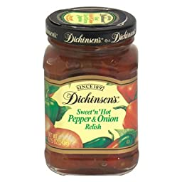 Dickinson\'s Relish, Pepper Onion, 8.75-Ounce (Pack of 6)