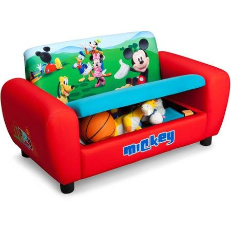 Amazon.com: Sofá de Disney Mickey Mouse con almacenamiento ...