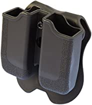 Caldwell Dual Magazine Holsters with Fit Adjustments and Paddle Clip for Tactical Carry, CCW and Competition