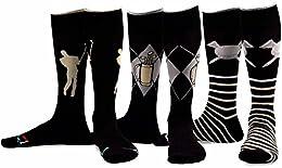 TeeHee Men's Golf Cotton Crew Socks 3-Pairs Assorted