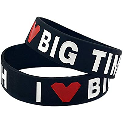 CWLLWC Silicone Bracelet Silicone Bracelets with Sayings Big Time Rush Rubber Wristbands for Men and Kids Encouragement Set Pieces Estimated Price £27.99 -