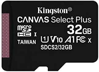 Kingston 32GB microSDHC Canvas Select Plus 100MB//s Read A1 Class10 UHS-I 2-Pack Memory Card Adapter SDCS2//32GB-2P1A