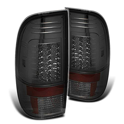 Xtune Smoked 2008-2016 F250 F350 F450 G2 LED Tail Lights Rear Smoke Brake Lamp Pair Left+Right 2009 2010 2011 2012 2013 2014