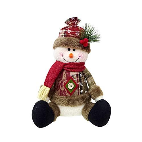SHIJUNWEI Christmas Decor Ornaments Home Christmas Decoration with Snowman/Old Man/Bear/elk-Christmas Decorations DIY Felt Cloth Decorative Ornaments Dolls -