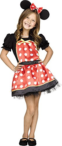 Fun World Big Girl's Miss Mouse Set One Size Fits Most Childrens Costume, Multi, Standard
