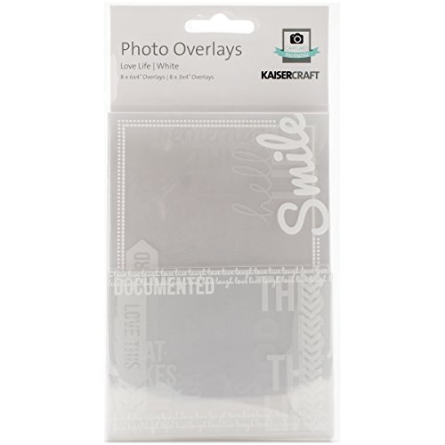 Kaisercraft Photo Overlays, Love Life, 16-Pack