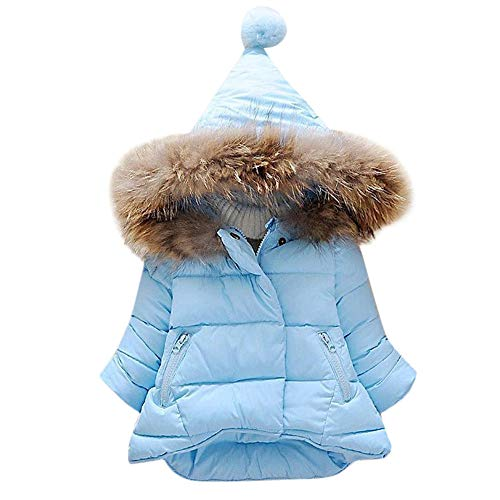 - Tronet Baby Girl Boy Winter Fur Long Thick Warm Hooded Coat Tops Jacket(Age:6Months-5Years Old)