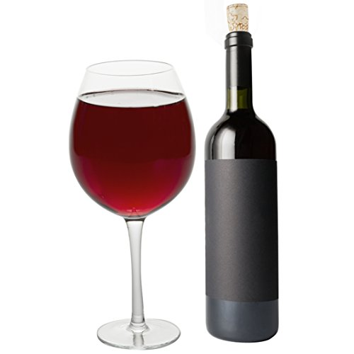 (Oversized Extra Large Giant Wine Glass -33.5 oz - Holds a full bottle of)