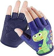 Kids Half-Finger Monkey Bar Gloves for Age 1-10 Boys Girls Climbing Biking Good Grip Control Gloves for Gymnas