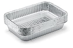 Weber 6415 Small 7-12-inch-by-5-inch Aluminum Drip Pans, Set Of 10