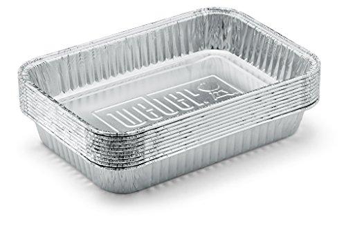 Weber 6415 Small 7-1/2-Inch-by-5-inch Aluminum Drip Pans, Set of (Grease Tray)