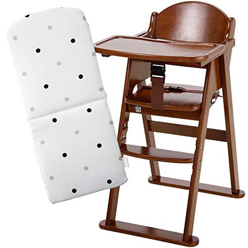 木製ハイチェアCENA[セナ](ブラウン)+チェアクッション[選べる4色] (スタイルドット)  スタイルドット B07K24BBHS