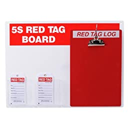Brady  122056,  5S Red Tag Board w/Clipboard and 5.75\