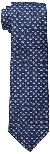 Star Wars Men's Rebel Alliance Tie, Blue, One Size (Star Wars Tie)