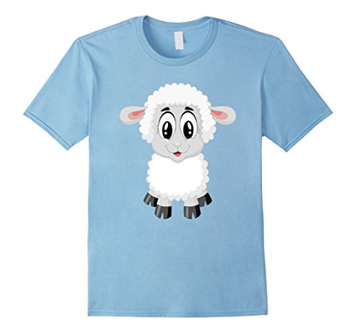 Mens Sheep Costume Shirt For Farm Animal Theme Party XL Baby Blue
