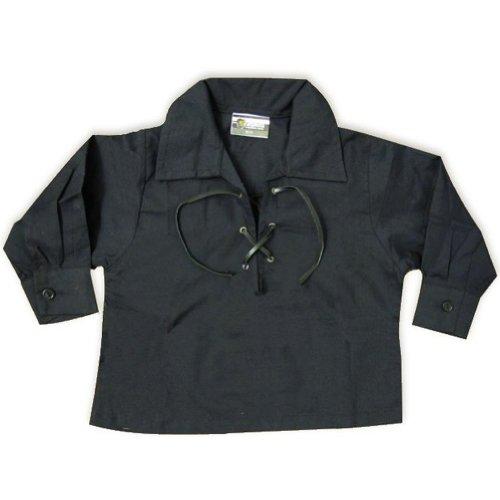 Tartanista Babies' Black Ghillie Kilt Shirt Ages 6 - 12 Months