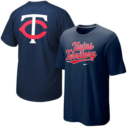 NIKE Minnesota Twins Navy Blue Local T-shirt (X-Large) ()