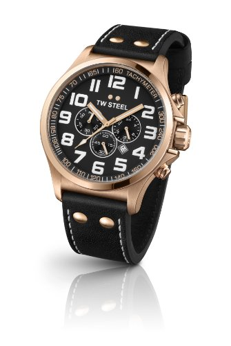 TW Steel Pilot Chronograph Rose Gold PVD Mens Watch TW419