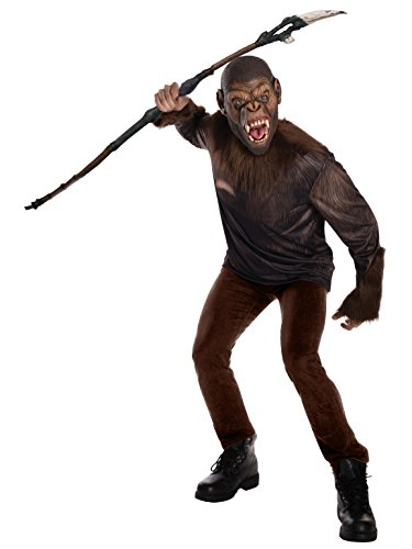 Authentic Planet Of The Apes Costume (Rubie's Costume Co. Men's War for the Planet of the Apes, Caesar, As Shown, Standard)