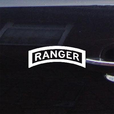 - AUTO US Army Ranger TAB Emblem Insignia Laptop CAR DIE Cut CAR Decor Notebook Vinyl Art Wall Art Decal Sticker Bike White